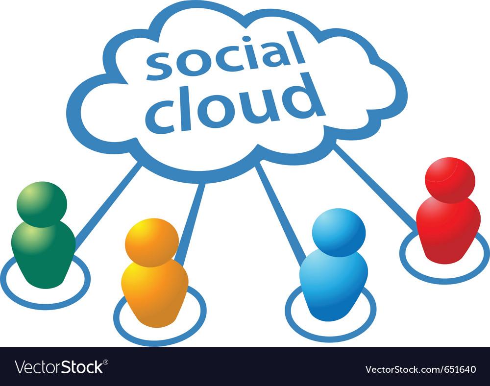 Social media people symbols vector | Price: 1 Credit (USD $1)