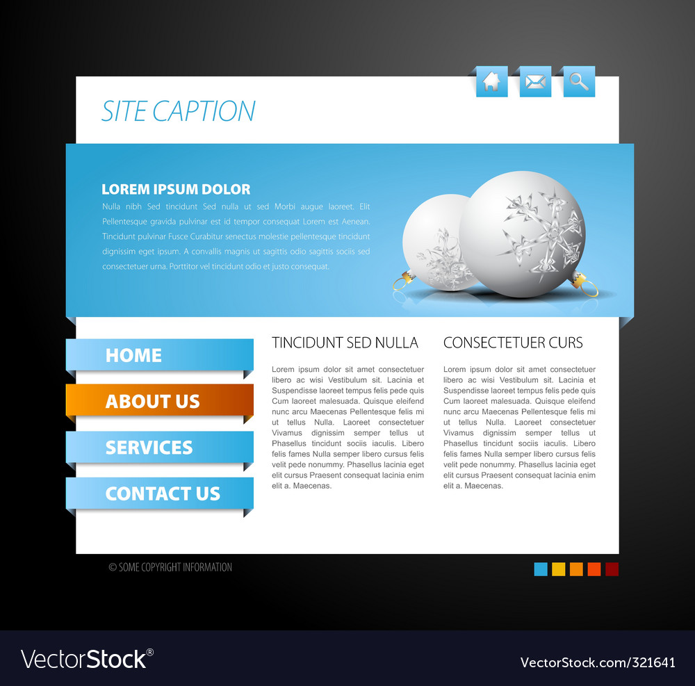 Christmas web page template vector | Price: 1 Credit (USD $1)