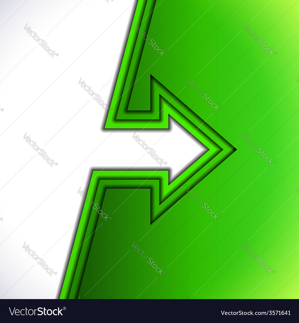 Colorful arrow with green cut paper layers vector | Price: 1 Credit (USD $1)