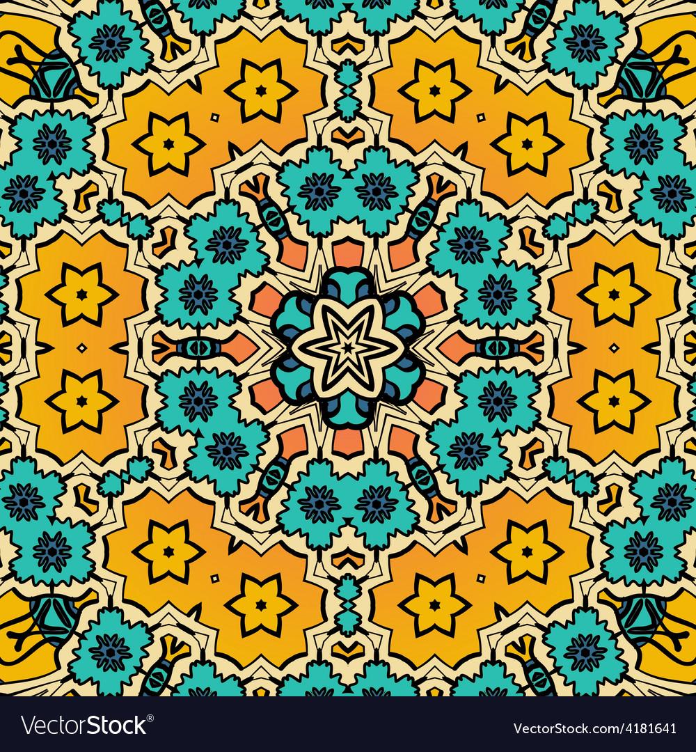 Decorative vintage eastern mandala seamless vector | Price: 1 Credit (USD $1)