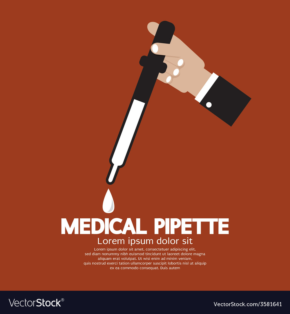 Medical pipette in hand vector | Price: 1 Credit (USD $1)