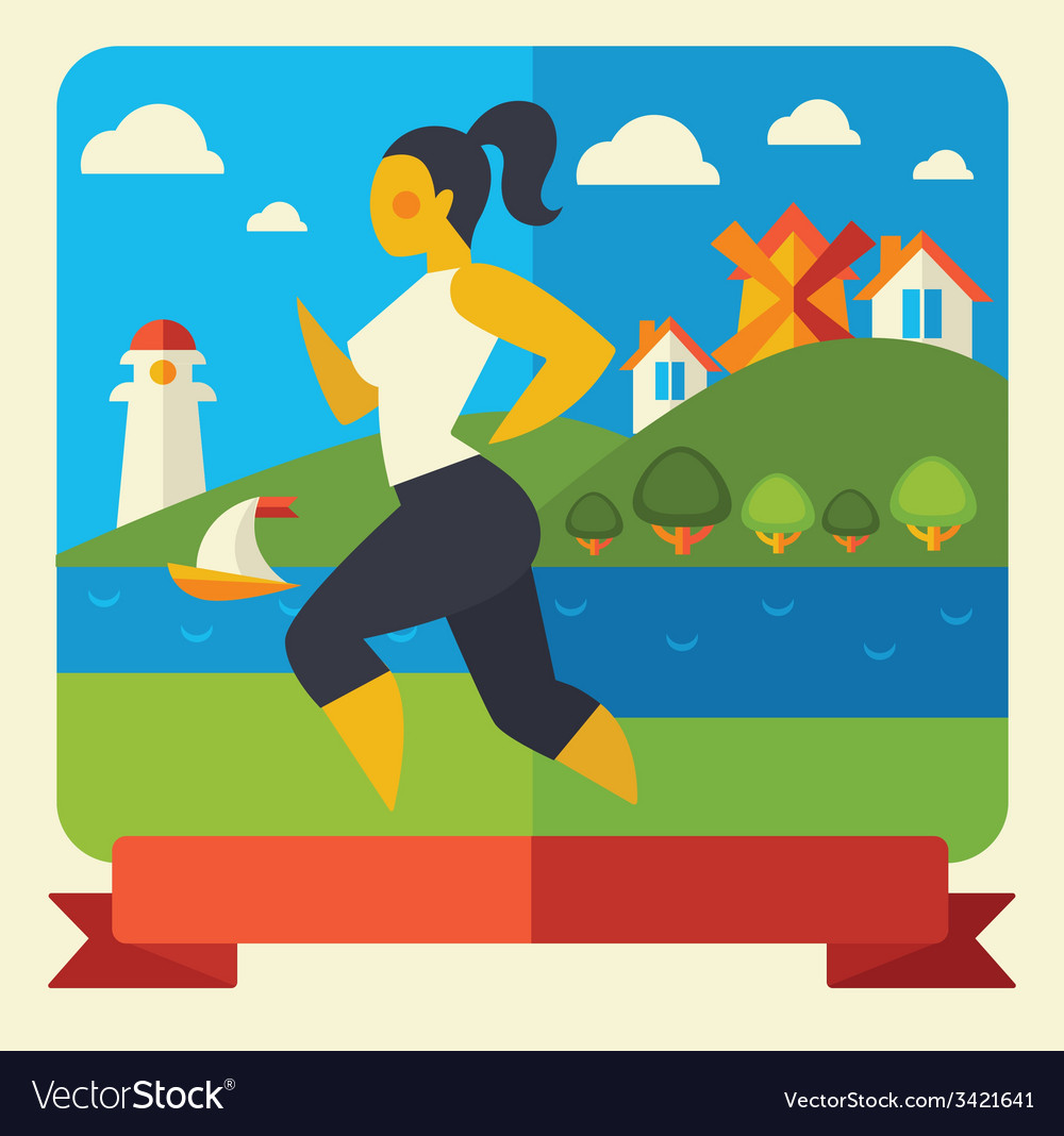 Outdoor fitness vector | Price: 1 Credit (USD $1)