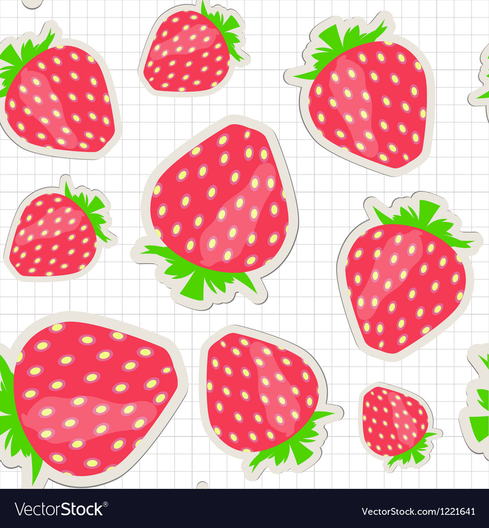 Seamless pattern with strawberry vector | Price: 1 Credit (USD $1)