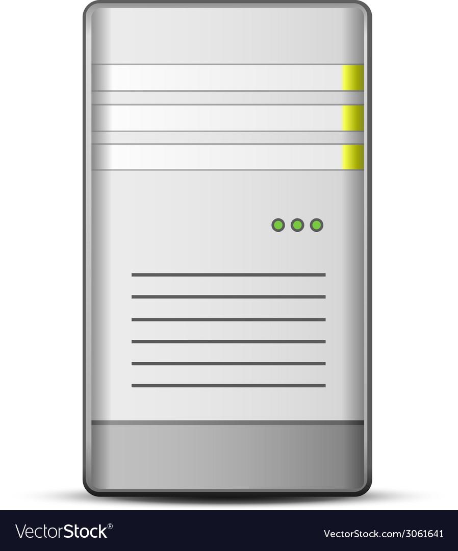 Server icon vector | Price: 1 Credit (USD $1)