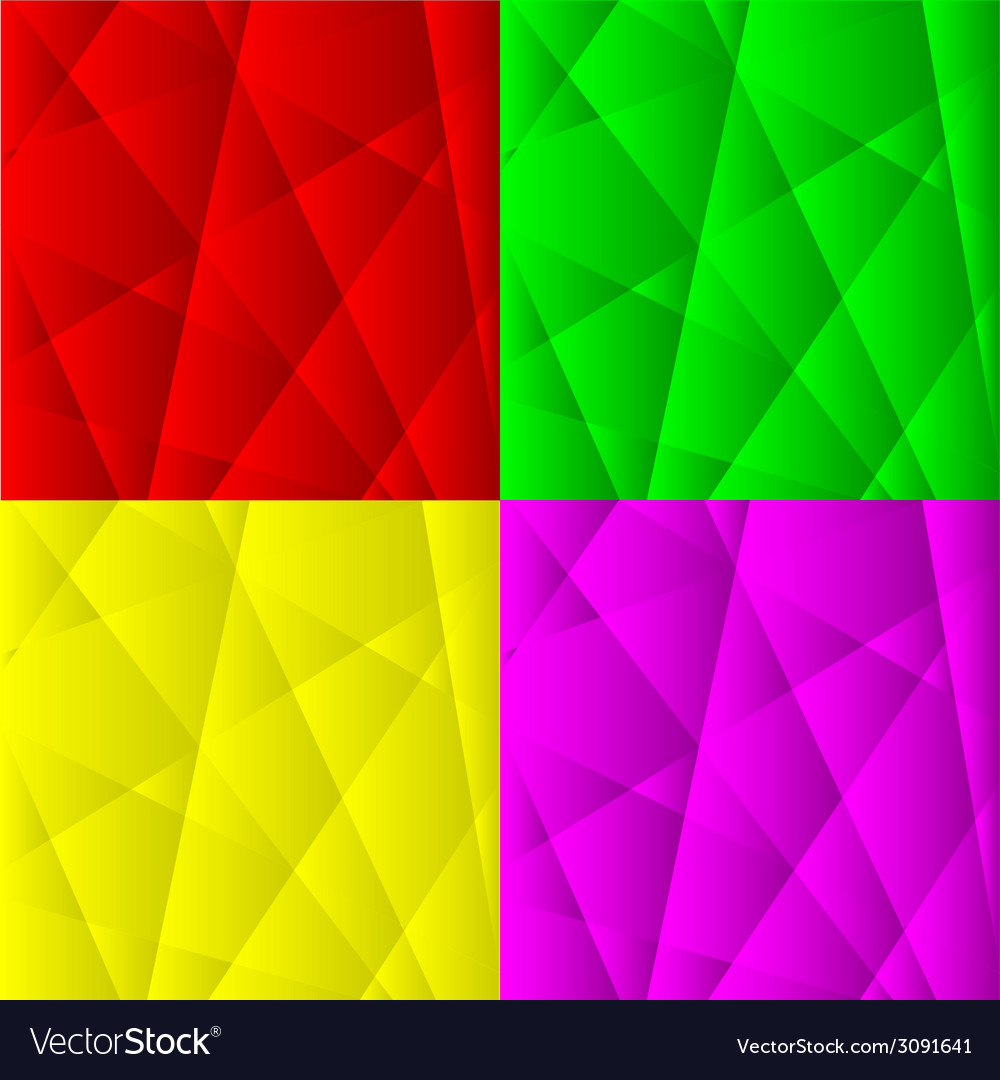 Set of abstract geometric backgrounds vector | Price: 1 Credit (USD $1)