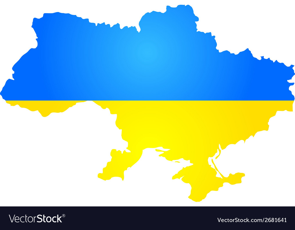 Silhouette of ukraine vector | Price: 1 Credit (USD $1)