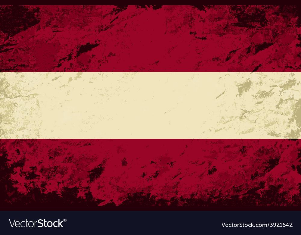 Austrian flag grunge background vector | Price: 1 Credit (USD $1)