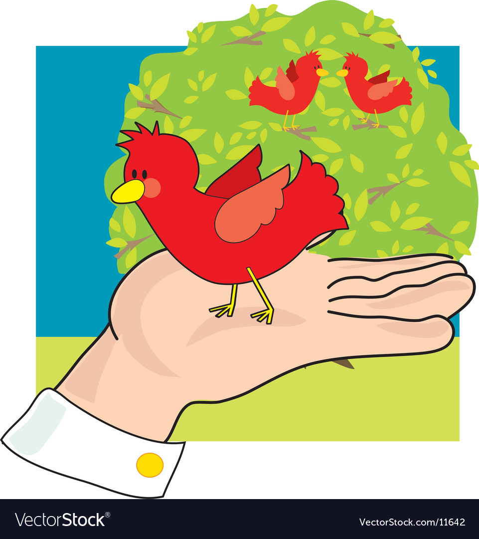 Bird in hand vector | Price: 1 Credit (USD $1)