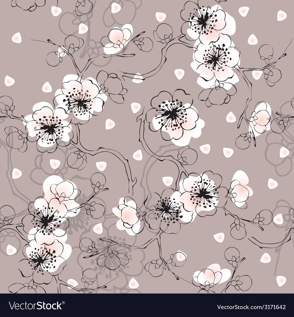 Blossom cherry vector