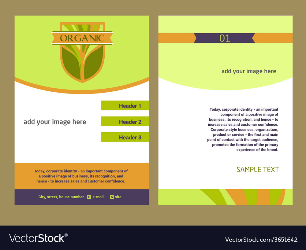 Brochure flyer design template in a4 size logo vector | Price: 1 Credit (USD $1)