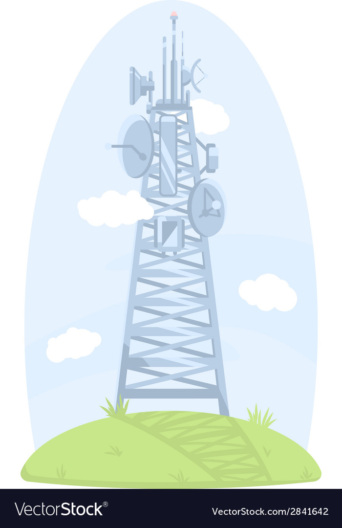 Cell tower with antennas vector | Price: 1 Credit (USD $1)