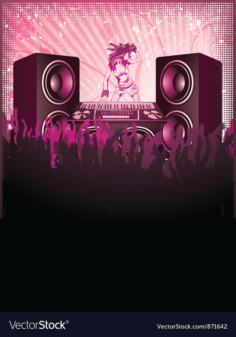 Concert poster with speakers vector | Price: 1 Credit (USD $1)