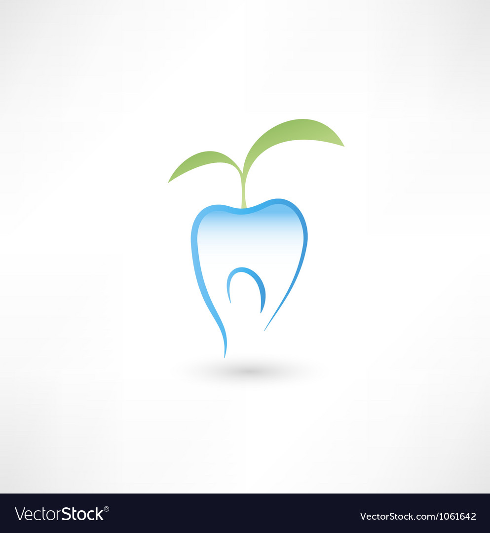 Healthy tooth icon vector | Price: 1 Credit (USD $1)