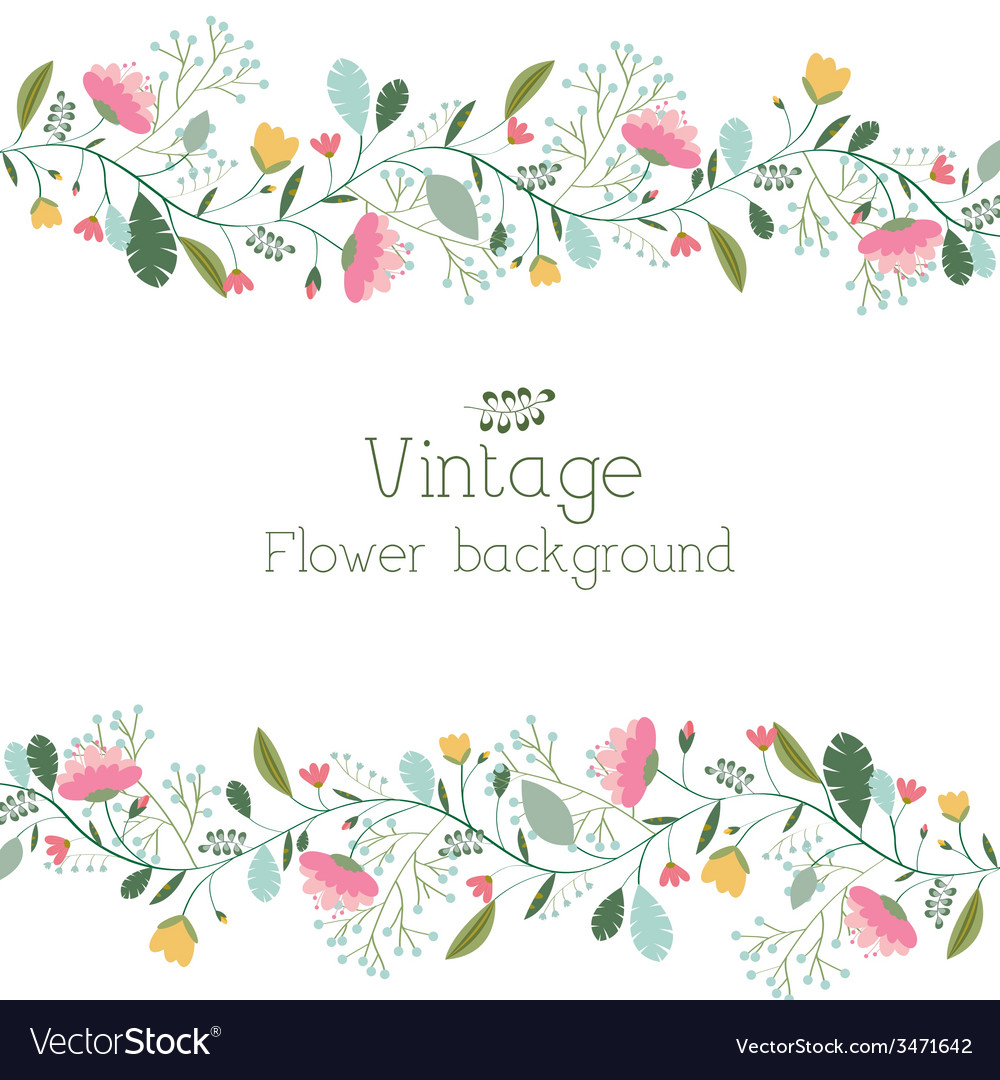 Retro flower background concept vector | Price: 1 Credit (USD $1)