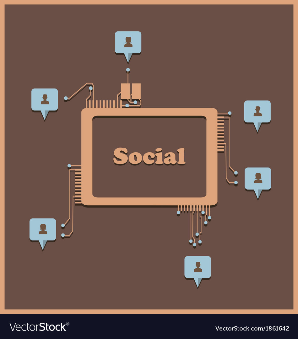 Social2 vector | Price: 1 Credit (USD $1)