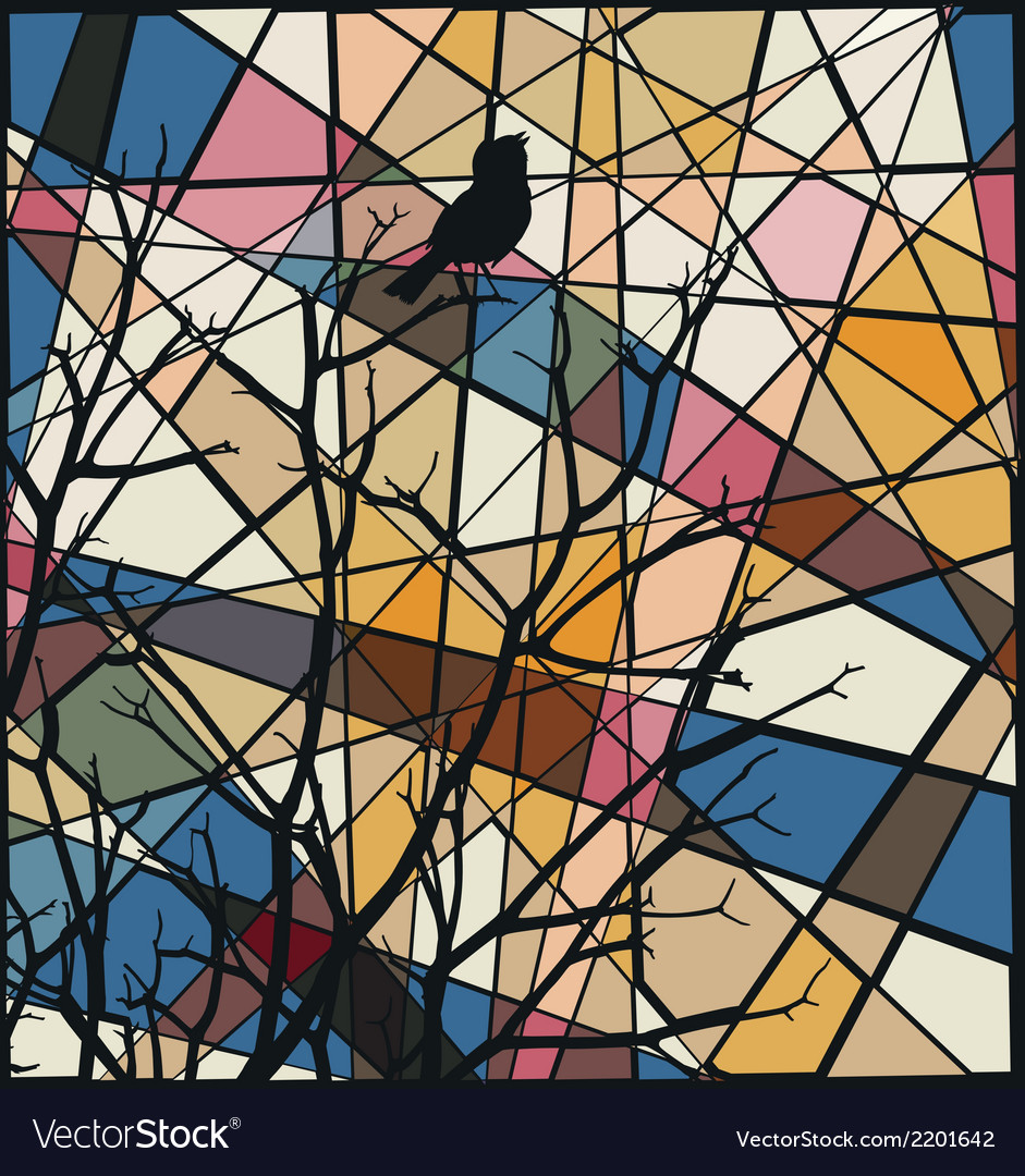 Songbird mosaic vector   Price: 1 Credit (USD $1)