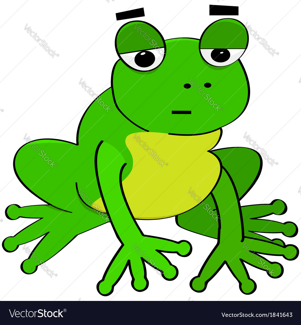 Bored frog vector | Price: 1 Credit (USD $1)