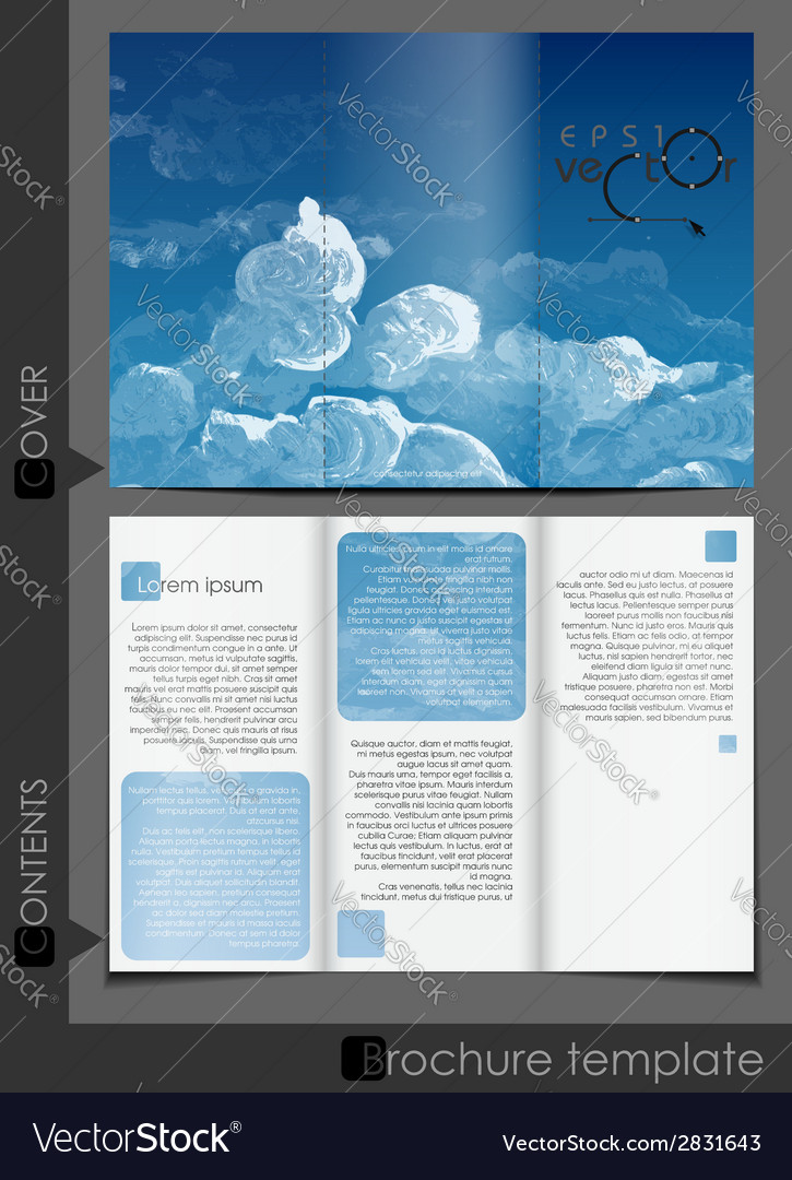 Brochure template design vector | Price: 1 Credit (USD $1)