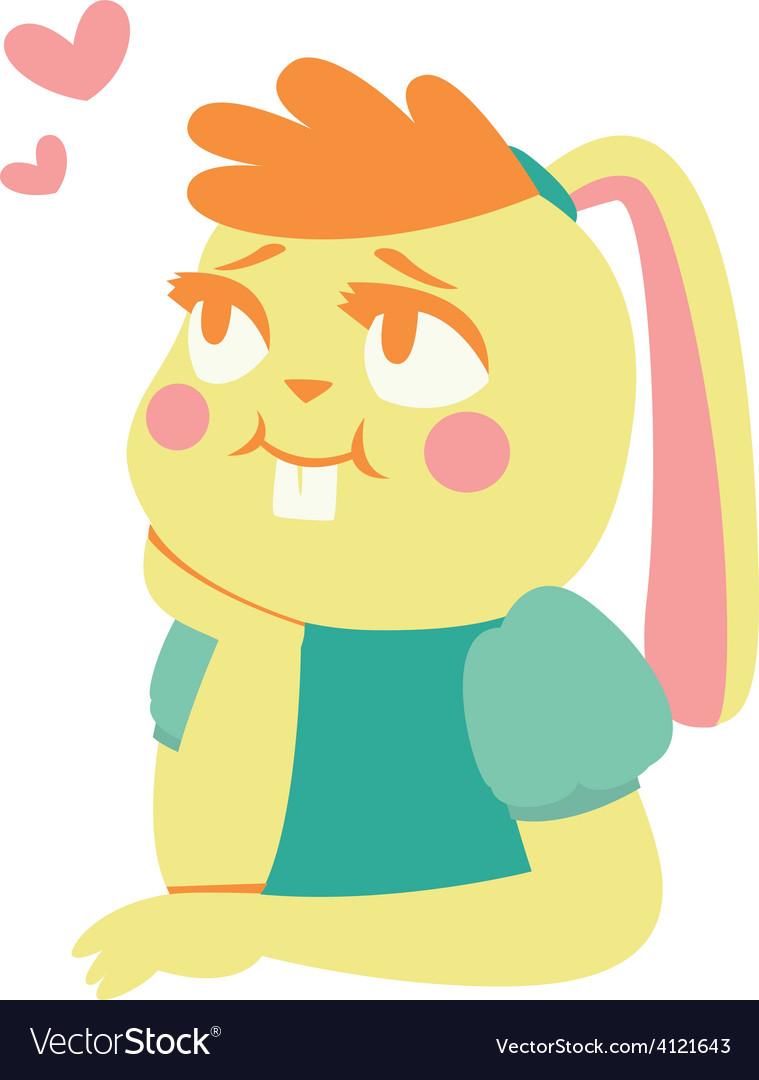 Bunny girl in love vector | Price: 1 Credit (USD $1)