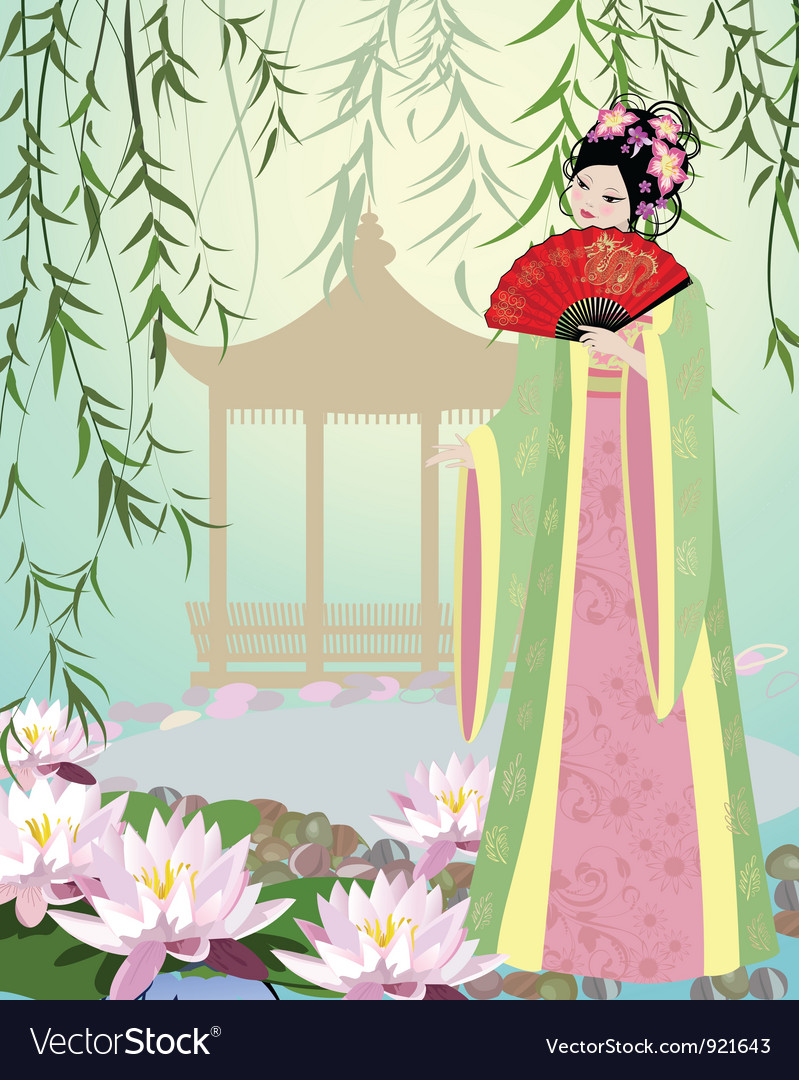 China girl7 vector | Price: 3 Credit (USD $3)