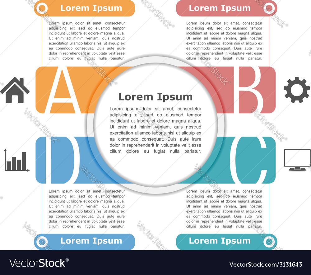 Infographics design template vector | Price: 1 Credit (USD $1)