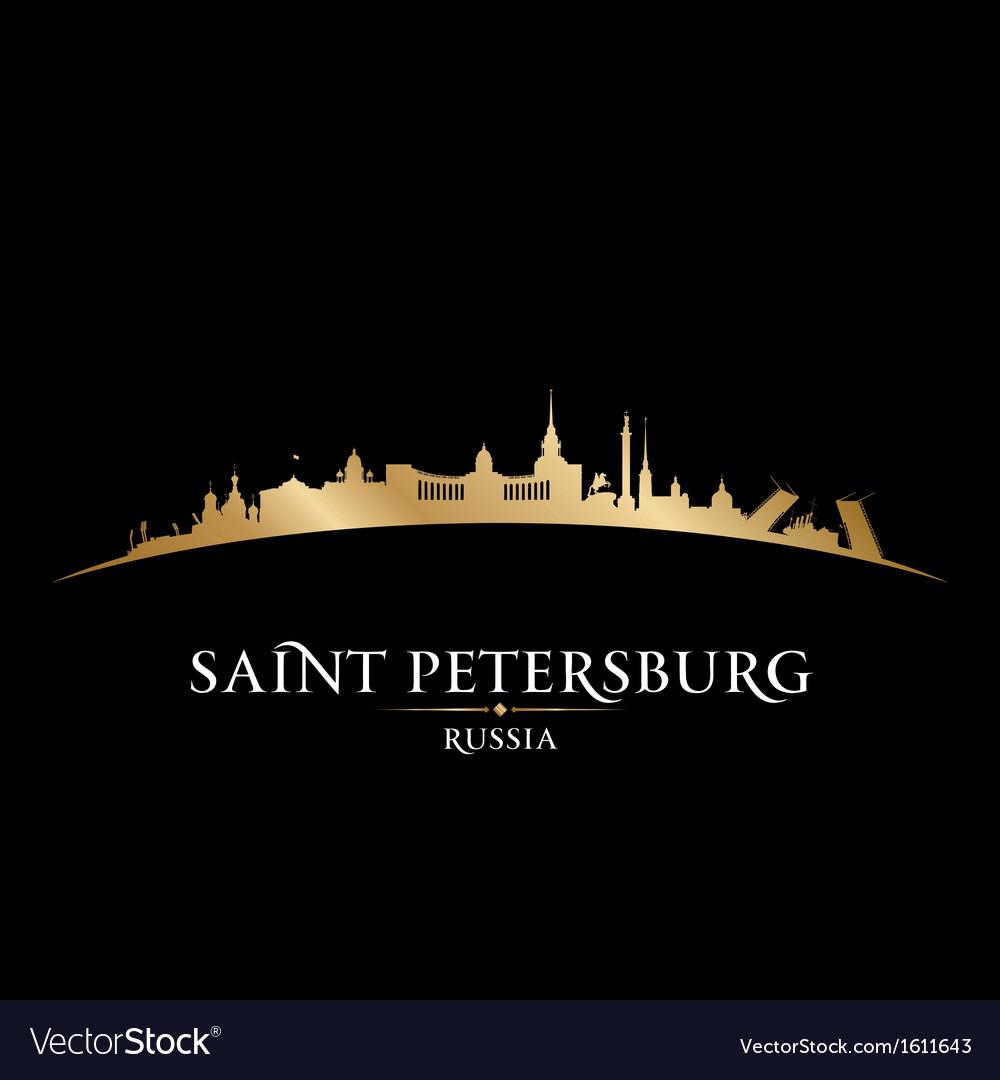 Saint petersburg russia city skyline silhouette vector | Price: 1 Credit (USD $1)