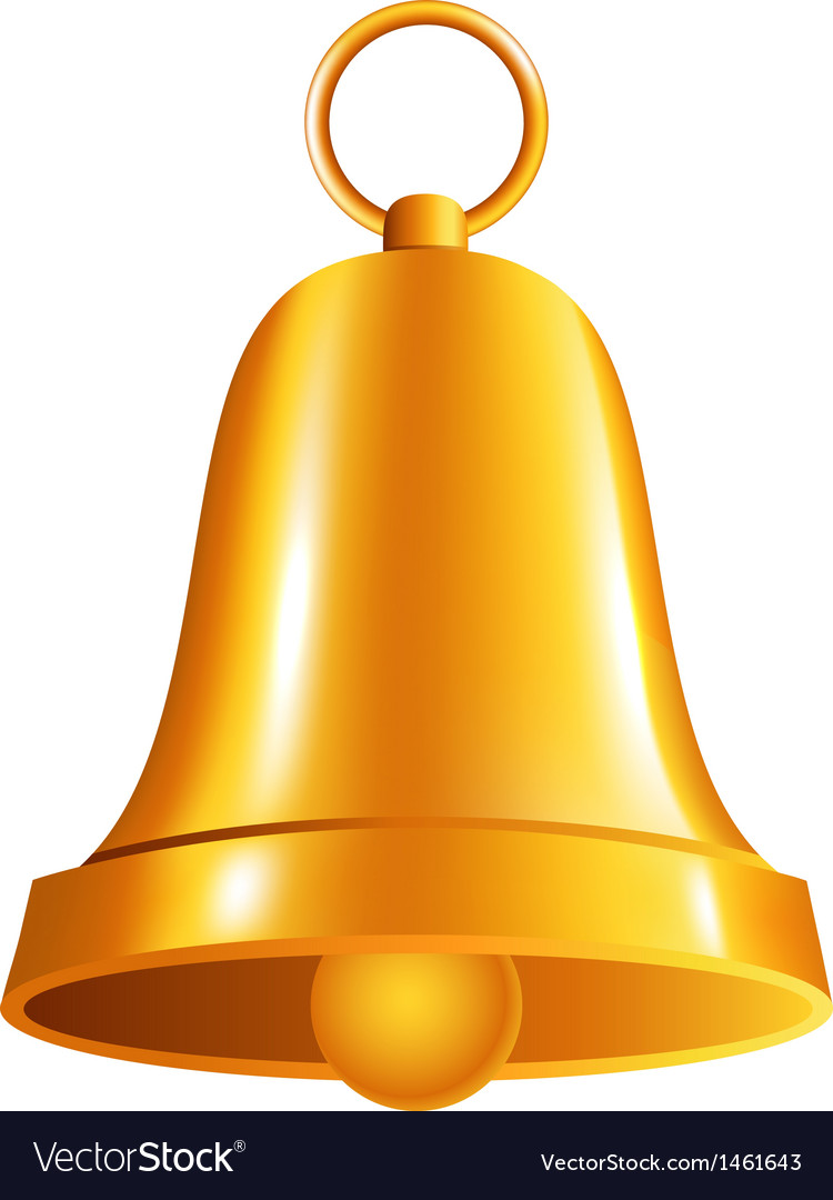 Shiny golden bell vector | Price: 1 Credit (USD $1)