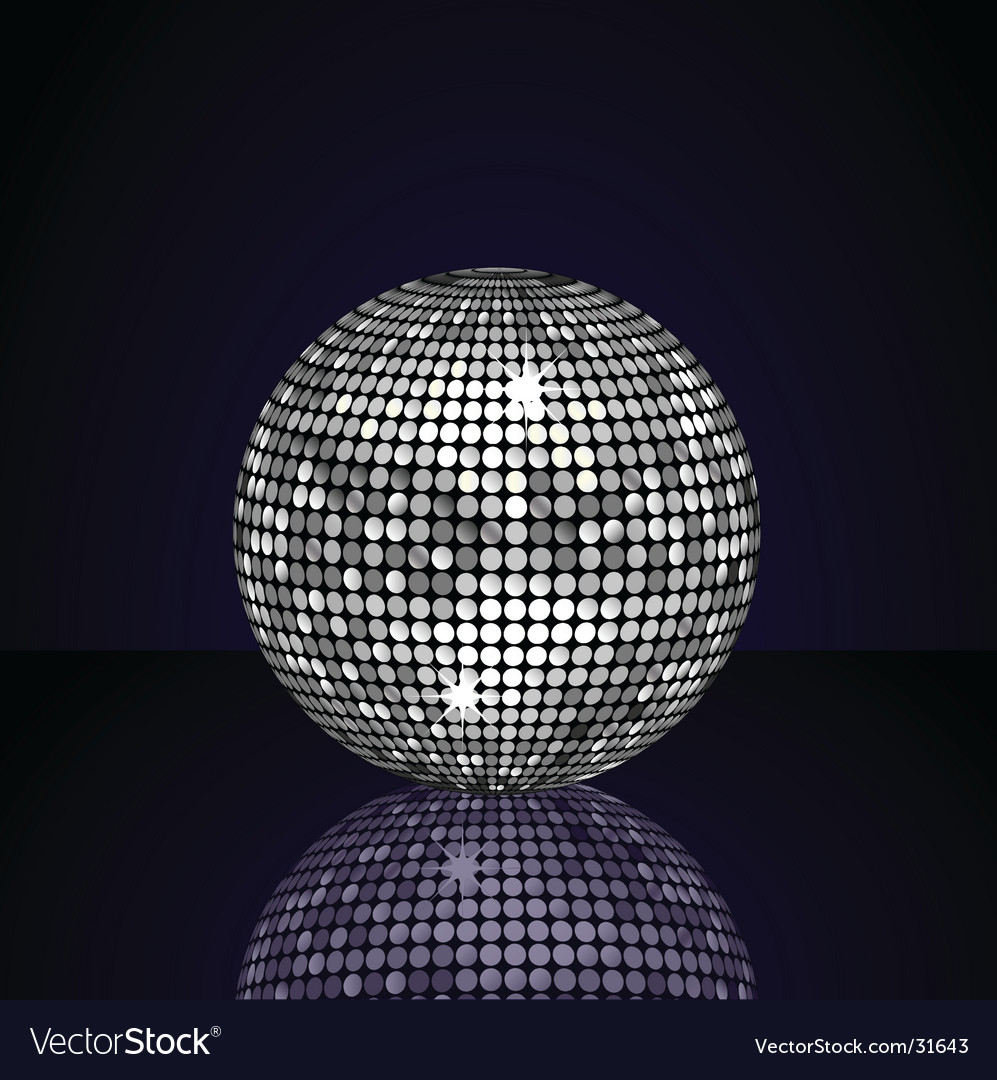 Silver disco ball vector | Price: 1 Credit (USD $1)