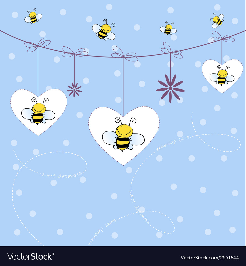 Background with bees vector | Price: 1 Credit (USD $1)