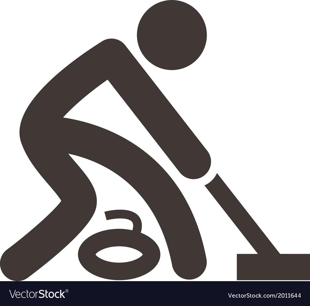 Curling icon vector   Price: 1 Credit (USD $1)