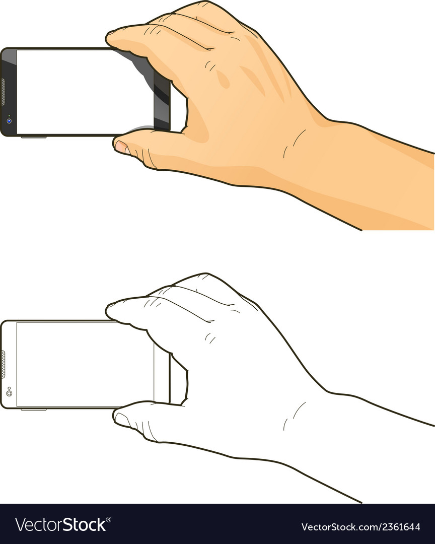 Phone in hand vector | Price: 1 Credit (USD $1)