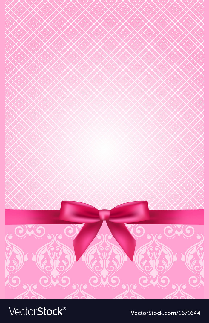 Pink wallpaper with bow vector | Price: 1 Credit (USD $1)