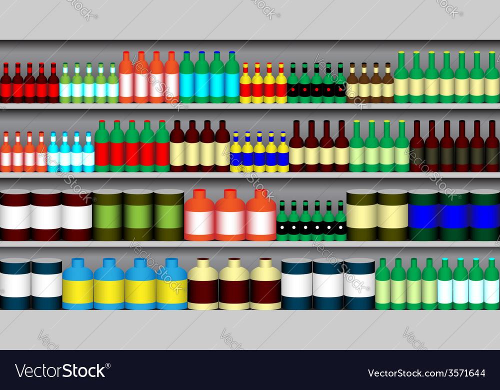 Supermarket shelves vector | Price: 1 Credit (USD $1)