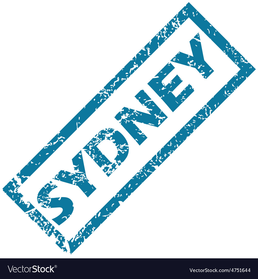 Sydney rubber stamp vector | Price: 1 Credit (USD $1)
