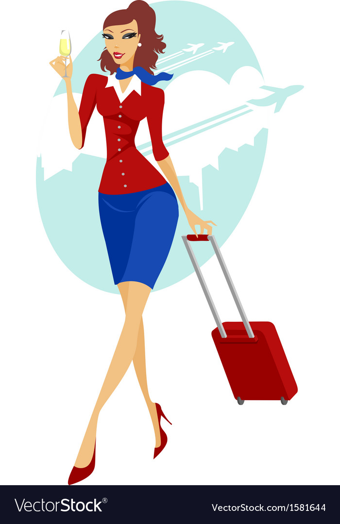 Young woman going to travel vector | Price: 1 Credit (USD $1)
