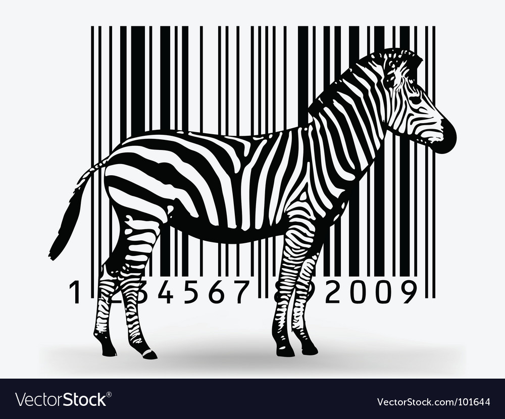 Zebra barcode vector | Price: 1 Credit (USD $1)