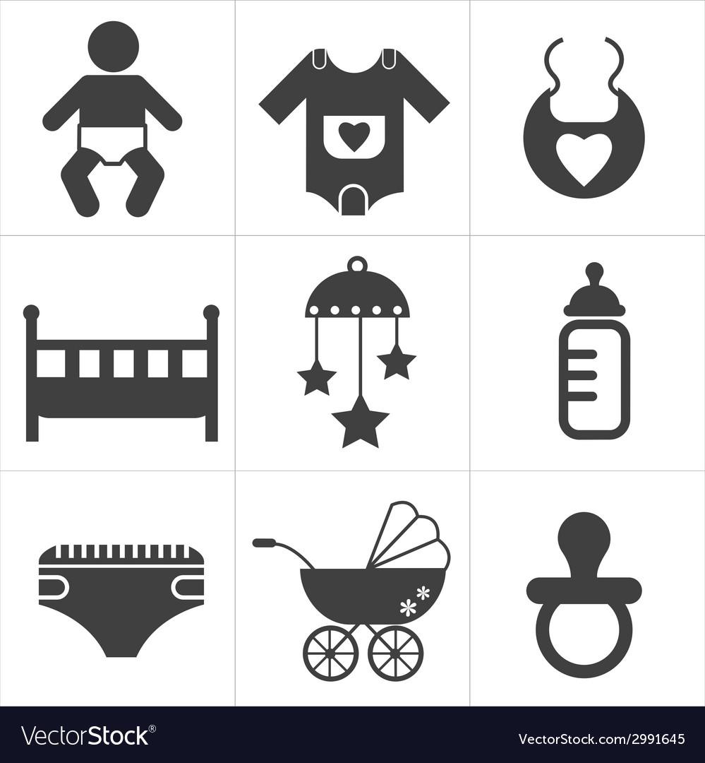Baby stuff icon vector | Price: 1 Credit (USD $1)