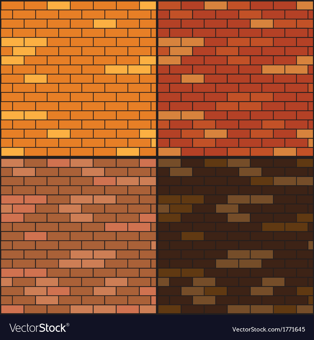 Brick wall background set vector | Price: 1 Credit (USD $1)