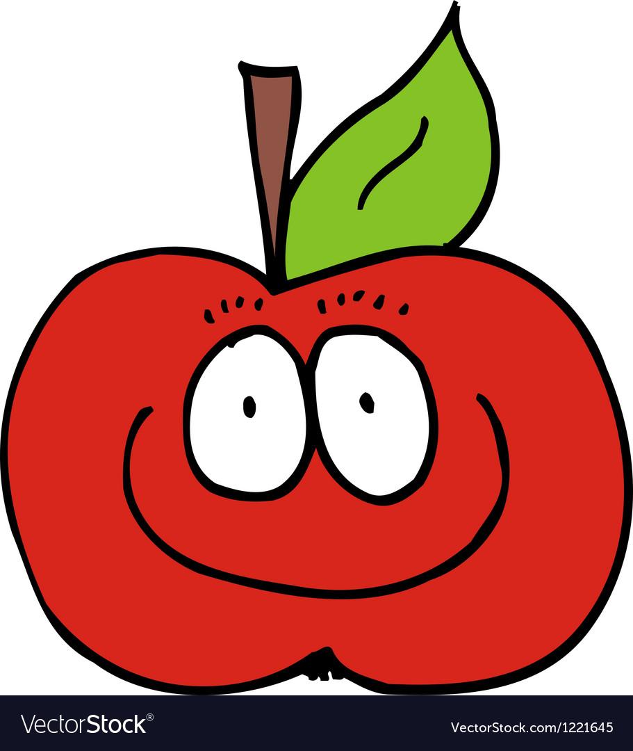 Caricature of apple vector | Price: 1 Credit (USD $1)