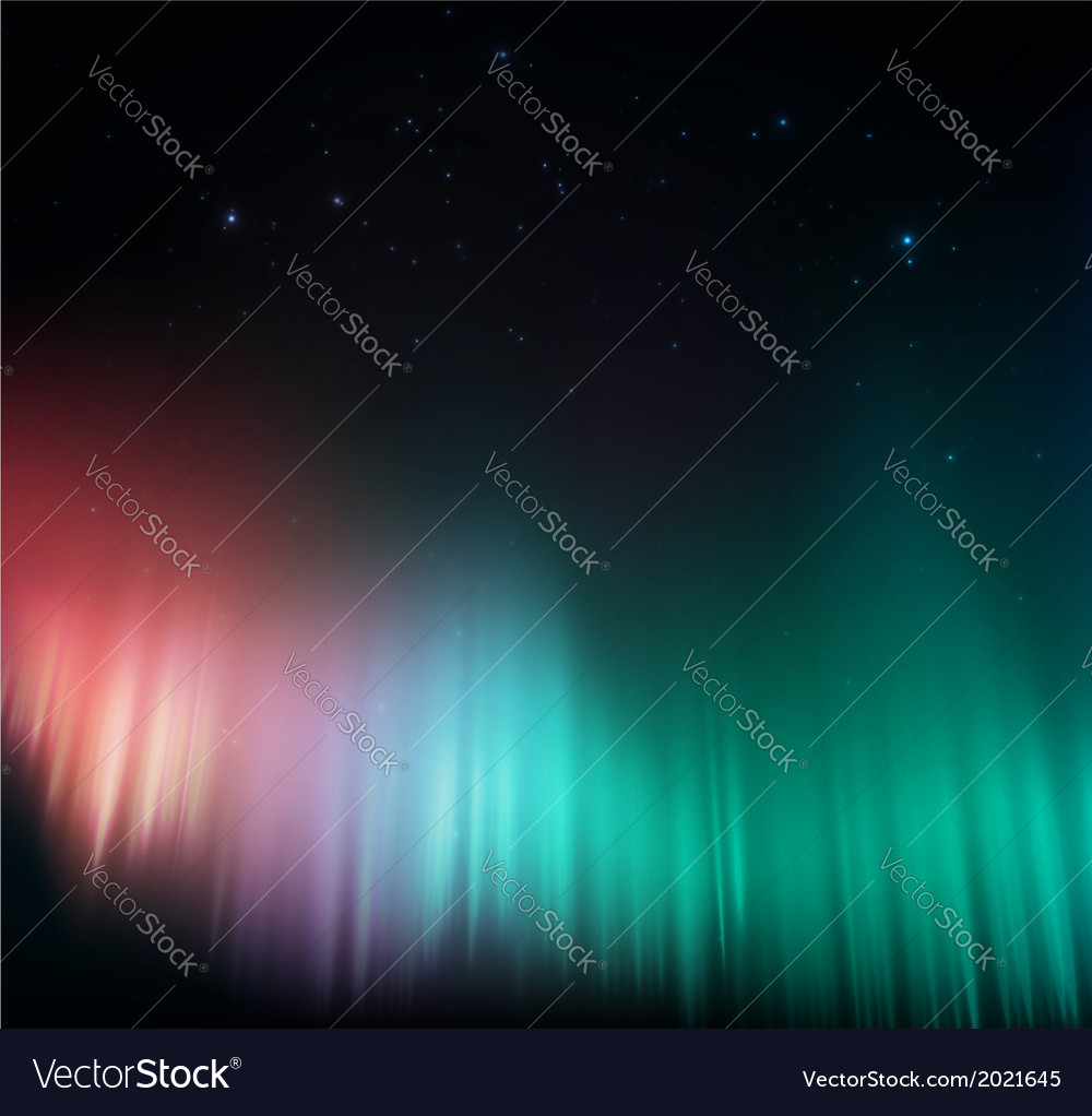 Colorful aurora vector | Price: 1 Credit (USD $1)