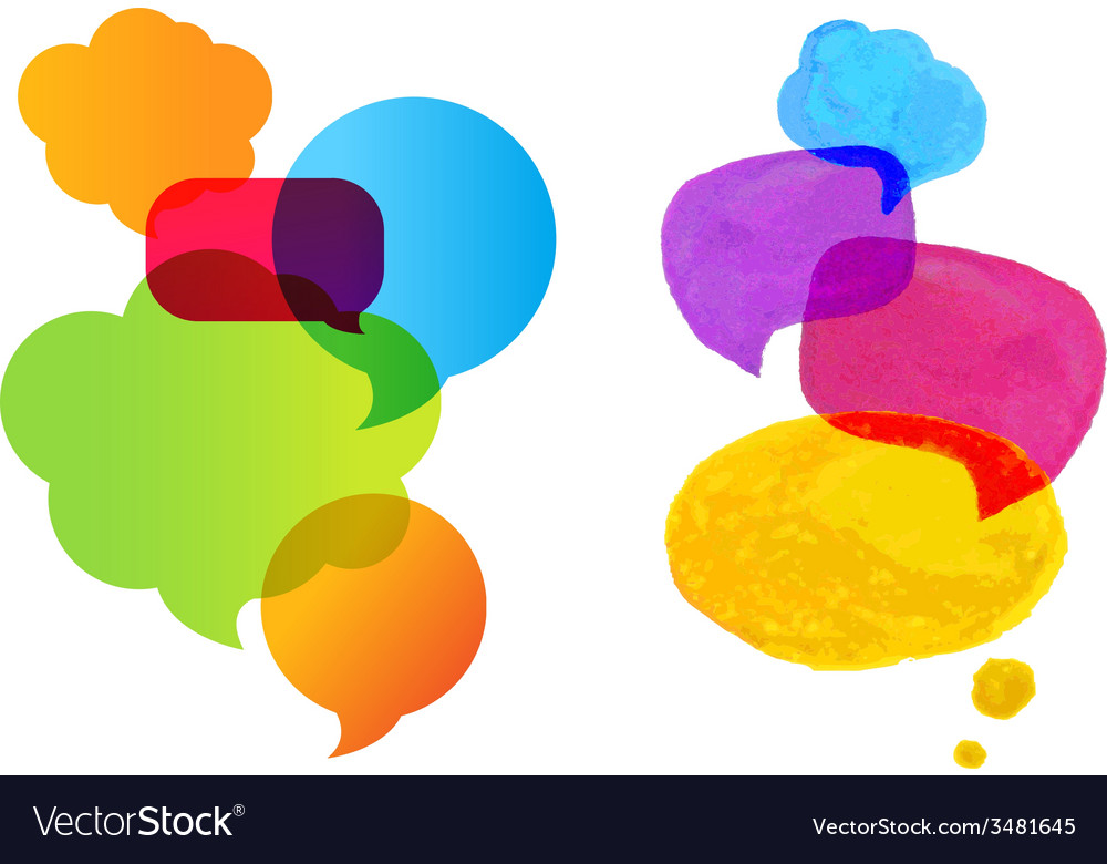 Colorful speech bubble set vector | Price: 1 Credit (USD $1)