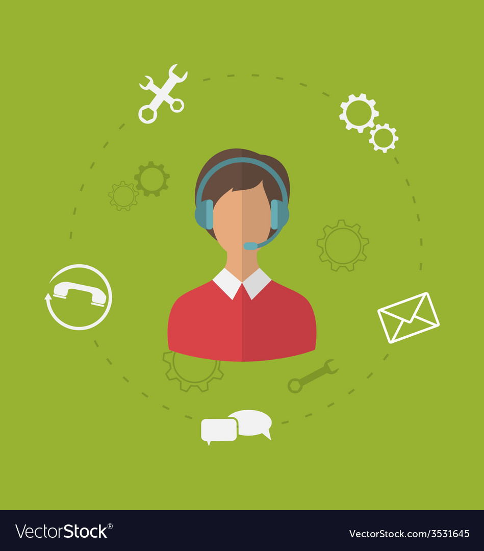 Concept of business customer care service modern vector | Price: 1 Credit (USD $1)