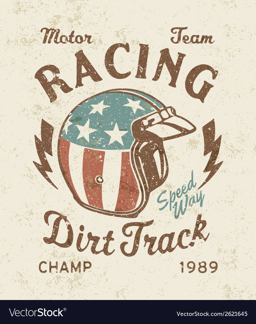 Dirt track racing vector