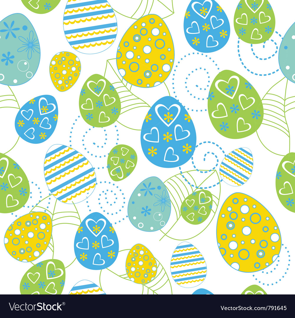 Easter seamless vector | Price: 1 Credit (USD $1)