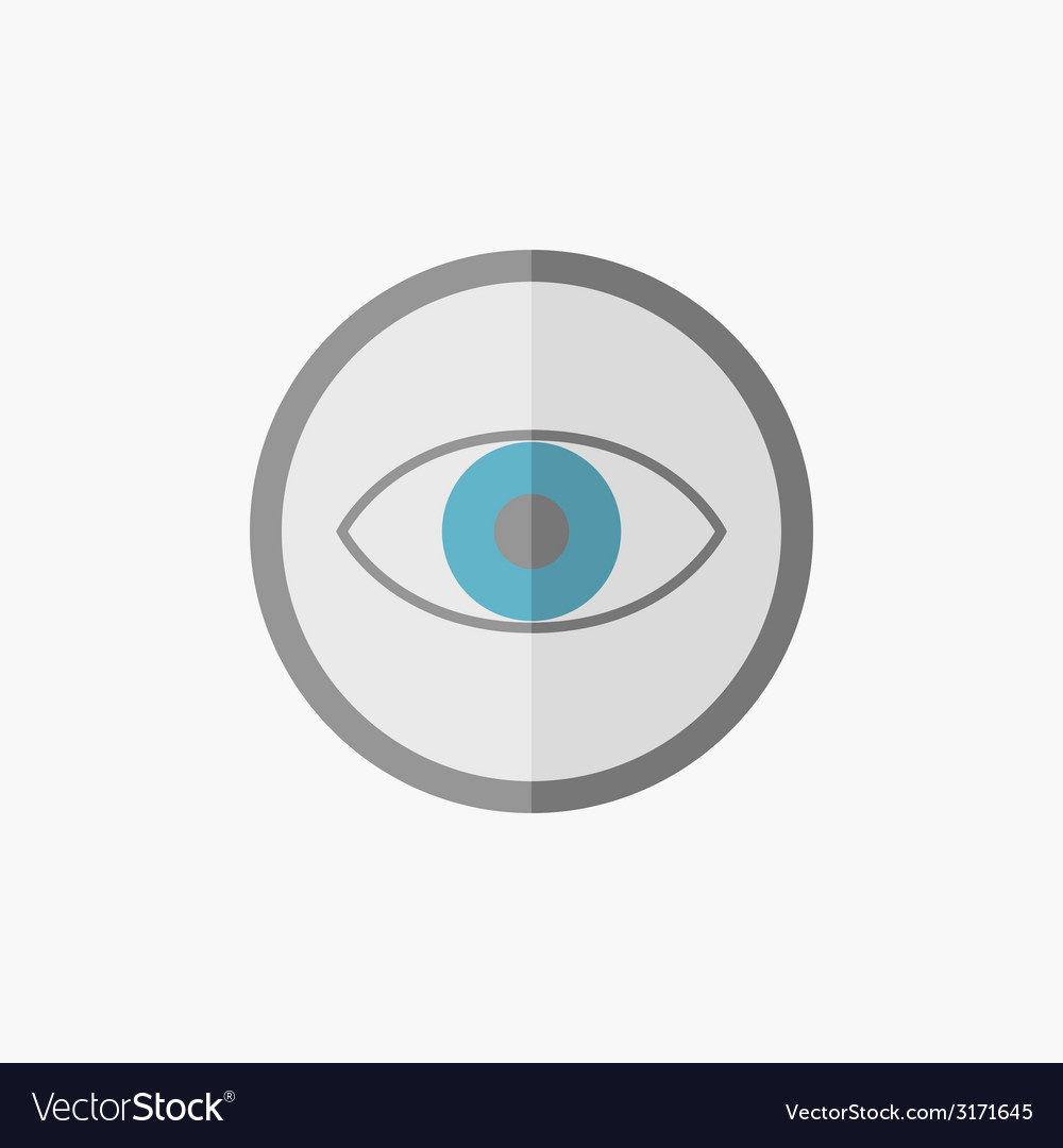 Eye flat icon vector | Price: 1 Credit (USD $1)