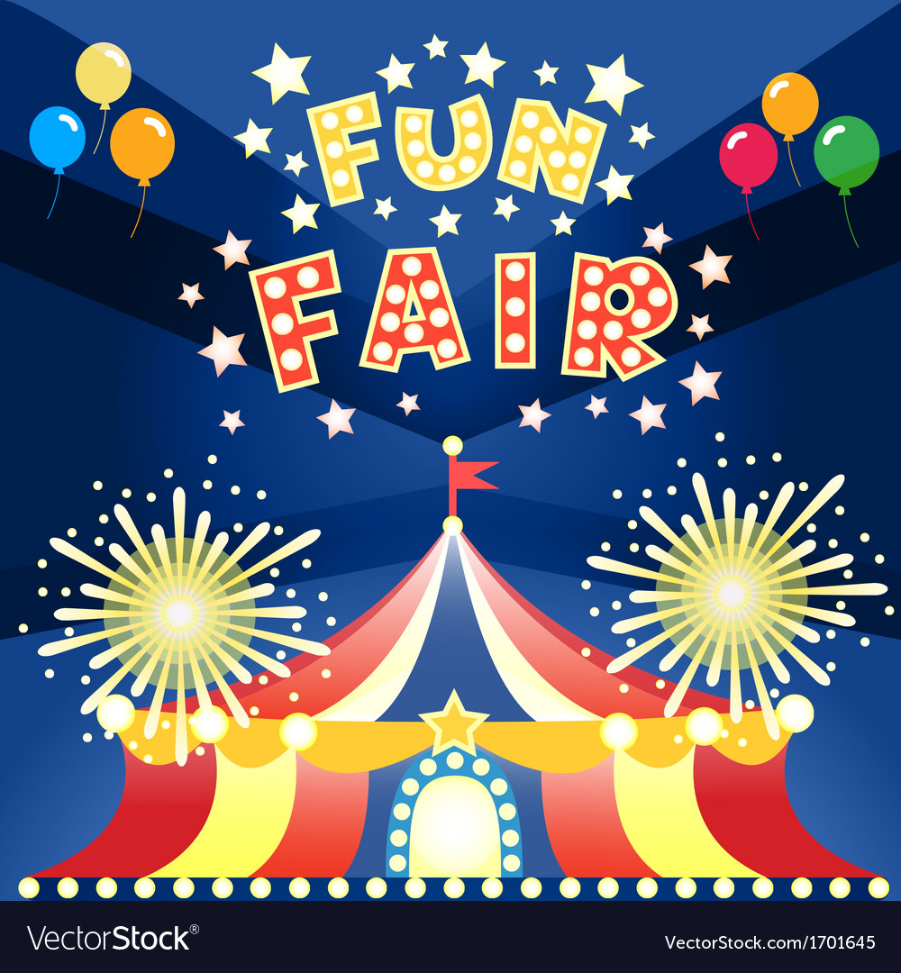 Fun fair poster vector | Price: 1 Credit (USD $1)