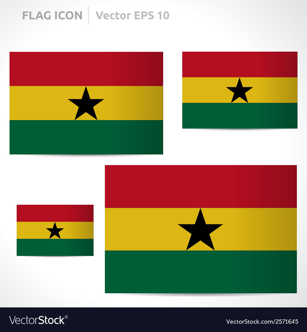 Ghana flag template vector | Price: 1 Credit (USD $1)