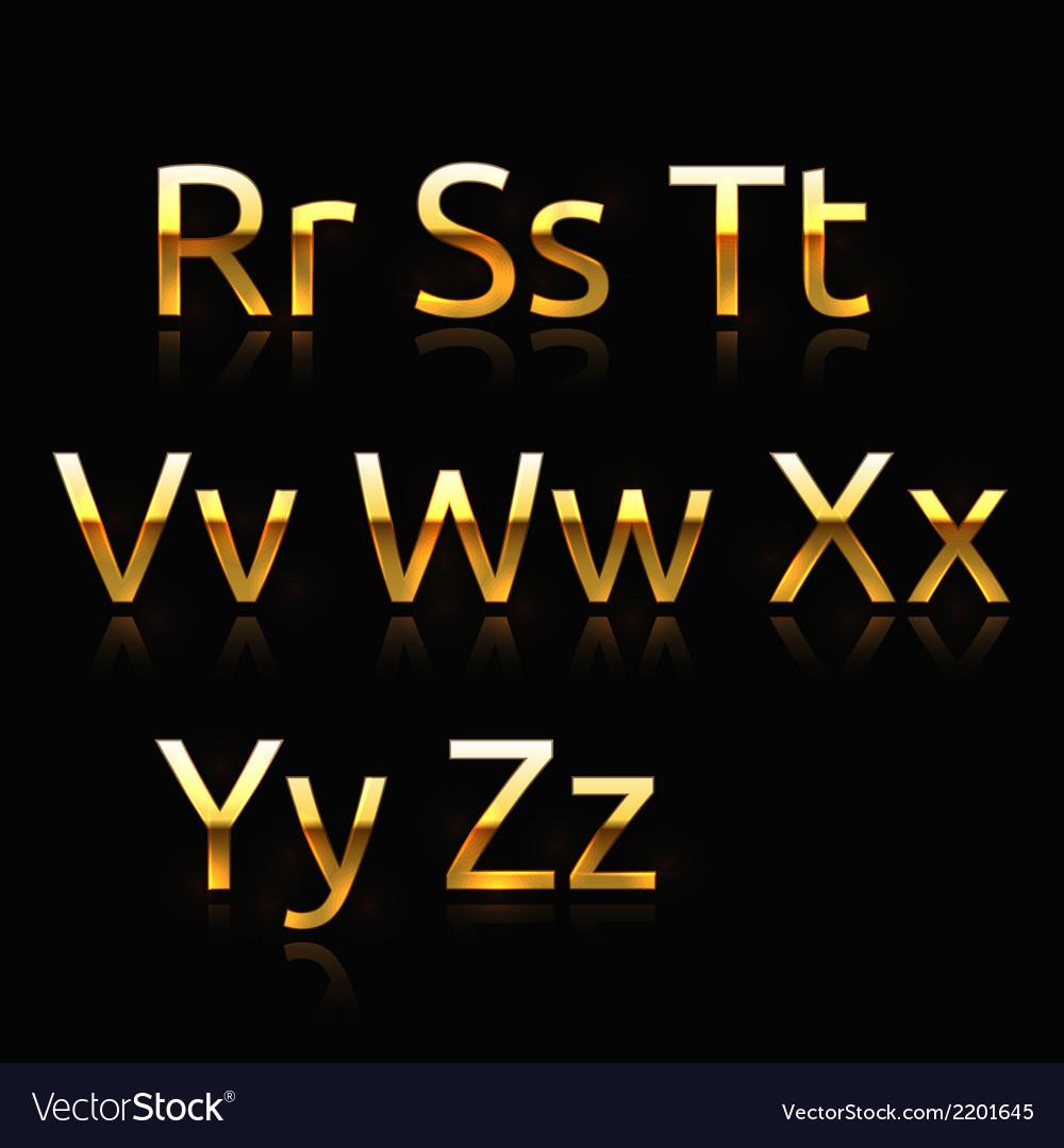 Golden alphabet vector | Price: 1 Credit (USD $1)