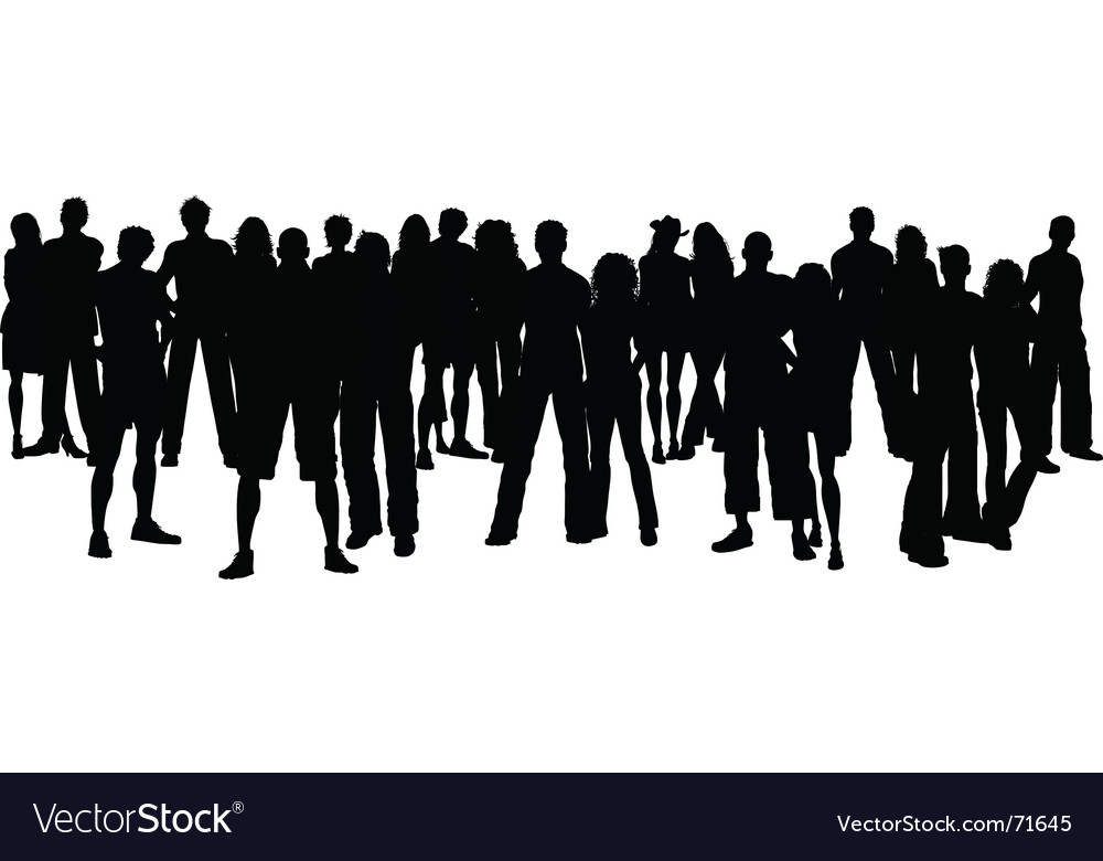 Large crowd vector | Price: 1 Credit (USD $1)