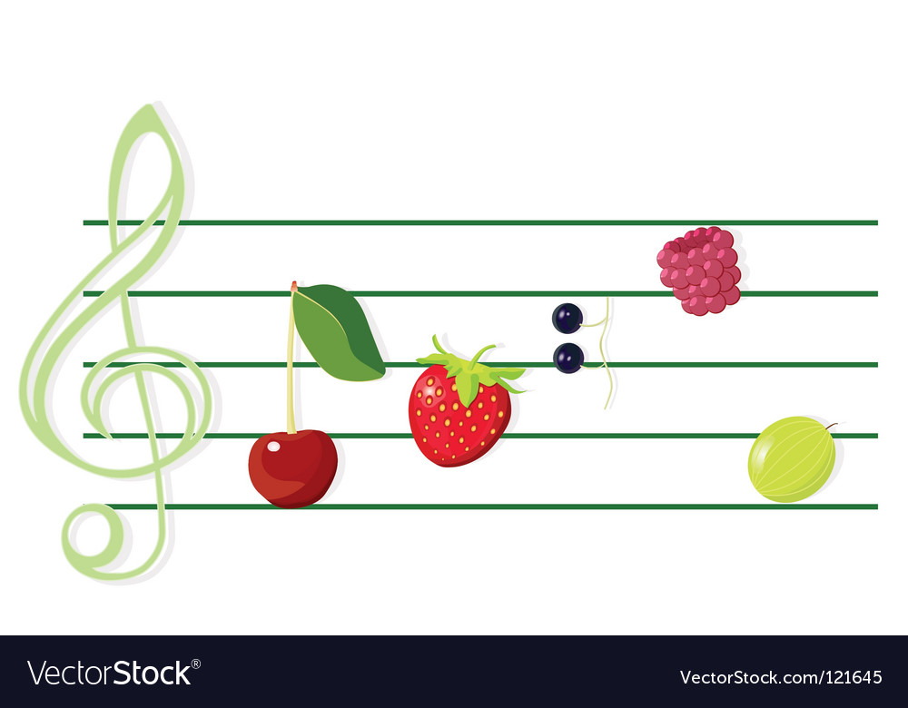Music and berries vector   Price: 1 Credit (USD $1)